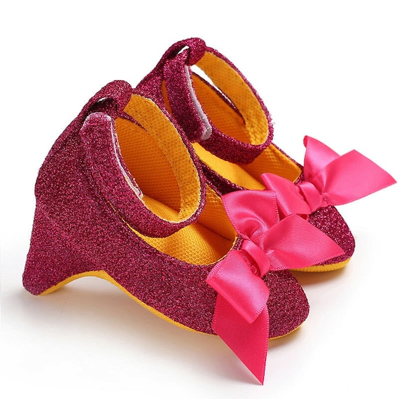 baby infant high heels crib shoes
