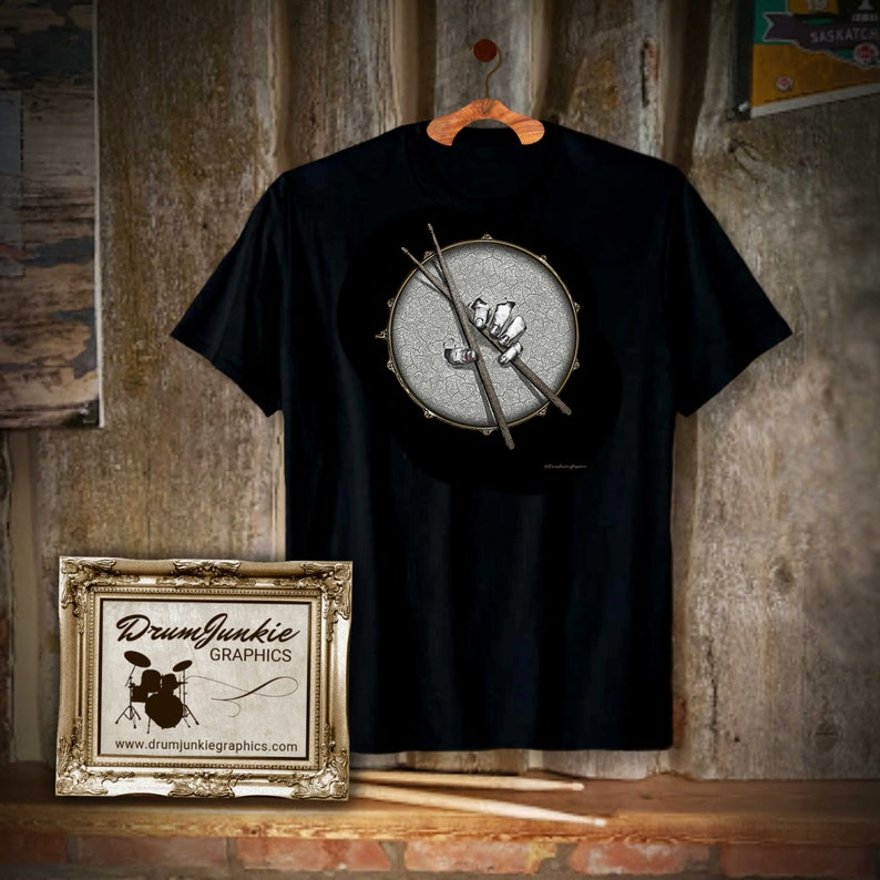 Cool DrumHeadz Drumming Shirt  Snare Drum and Drumsticks  image 0