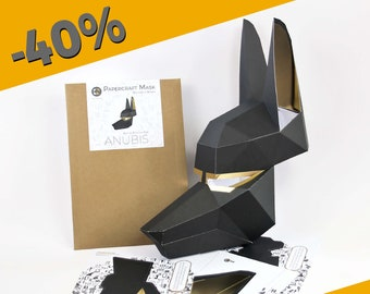 ANUBIS Mask PRE-CUT Kit -  All you need is glue to make this press-out mask