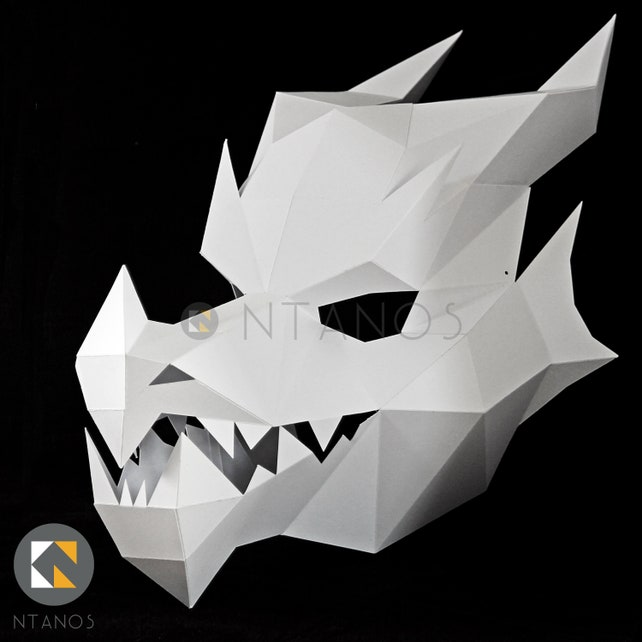 DRAGON Mask Make Your Own 3D Dragon With This Template