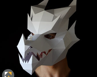 DRAGON Mask - Make your own 3D dragon mask with this template