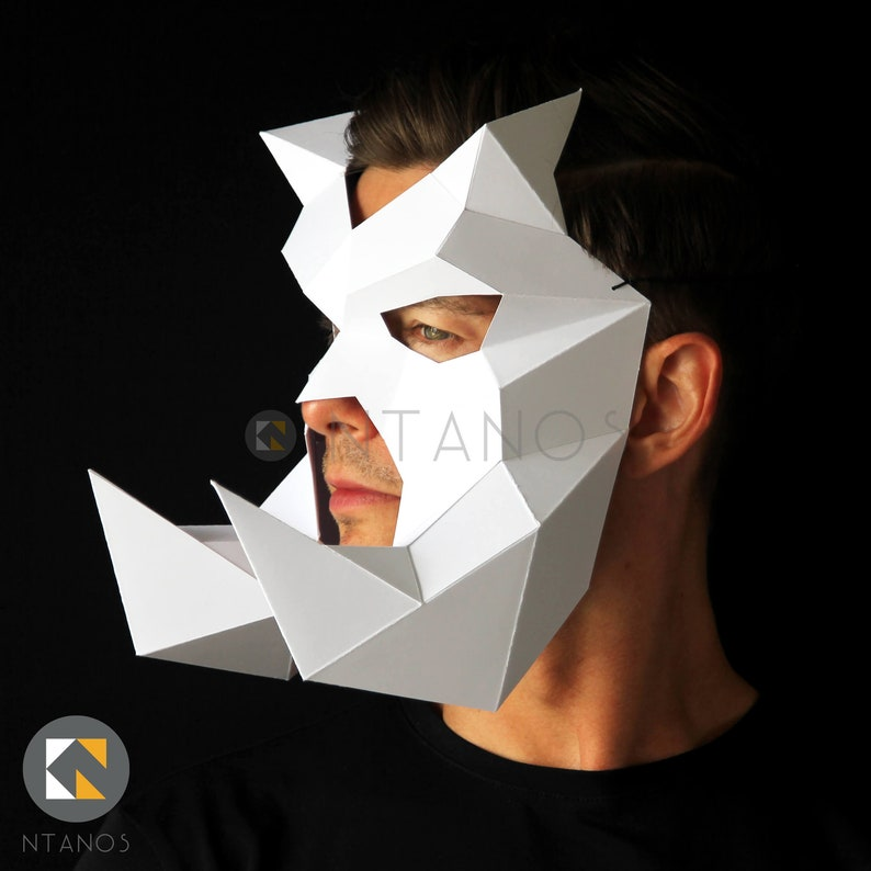BEWILDERBEAST Mask - Make this mask with big tusks from card, using this  PDF mask template