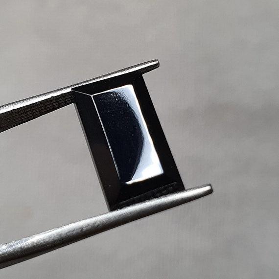 Rare gemstone Pleonaste 15,7\u044514\u044510,5\u04453,8 mm Top quality Black Spinel Raw Thai Black Spinel cabochon natural stone Rare Black Spinel