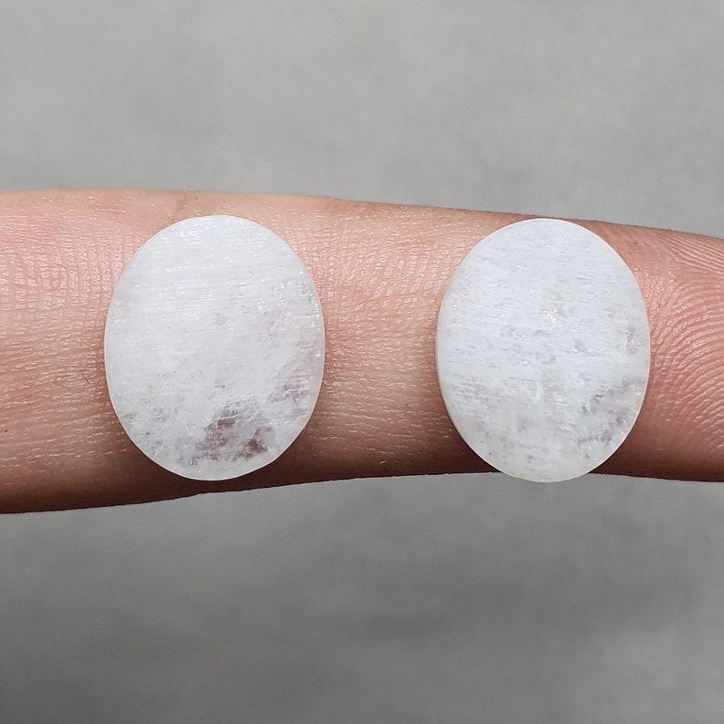 1,72 g. Moonstone Iridescent Clean White Gemstone cabochon 13,7*11,5*3 mm Top quality My FreakenFru Handmade Natural Rare Belomorite cab