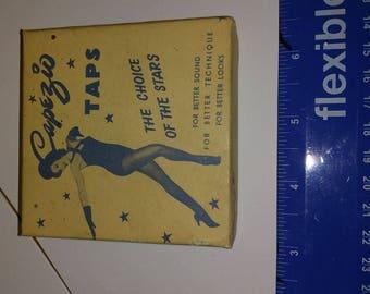 Vintage capezio taps box the choice of stars
