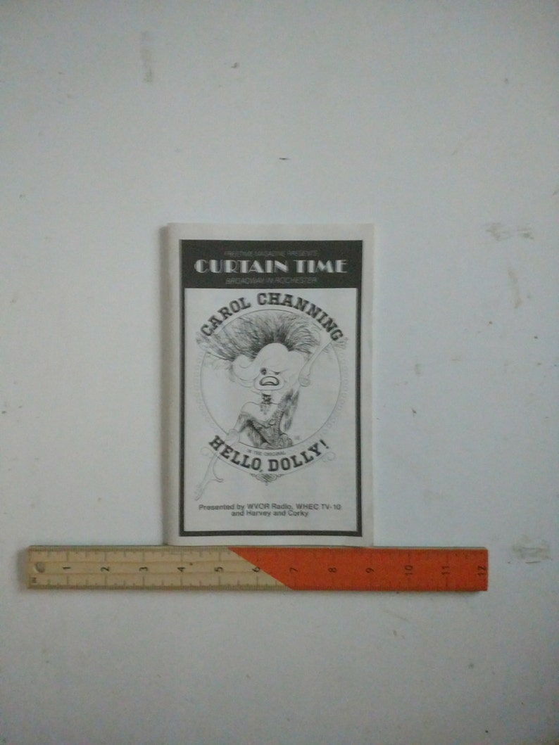 Musical program and ticket stub 1983 Hello Dolly with Carol Channing  Rochester NY