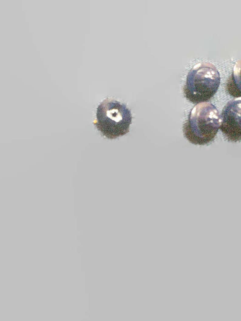 Buttons 8 blue glass molded 1 piece