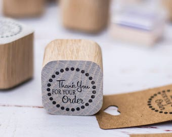 Thankyou stamp, wood stamp, custom stamp,  custom rubber stamp, thankyou for your order, review, stamp, packaging, thanks