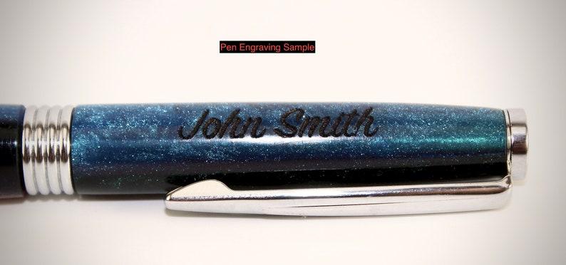 Crown Jewel Twist Pen in purple and black stabilized black ash burl