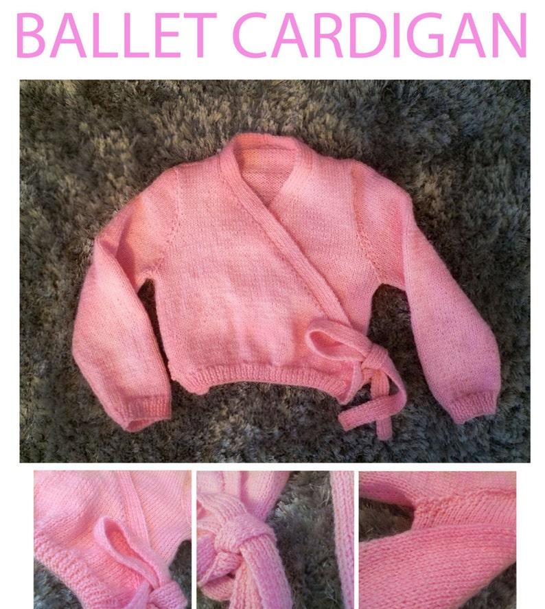 Childs Ballet Cardigan Knitting Pattern Etsy