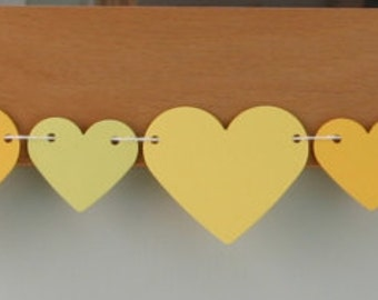 Heart Bunting, Heart Garland, Hearts Banner, Wedding Garland, Baby Shower, Summer Birthday Party, Paper Party Decoration
