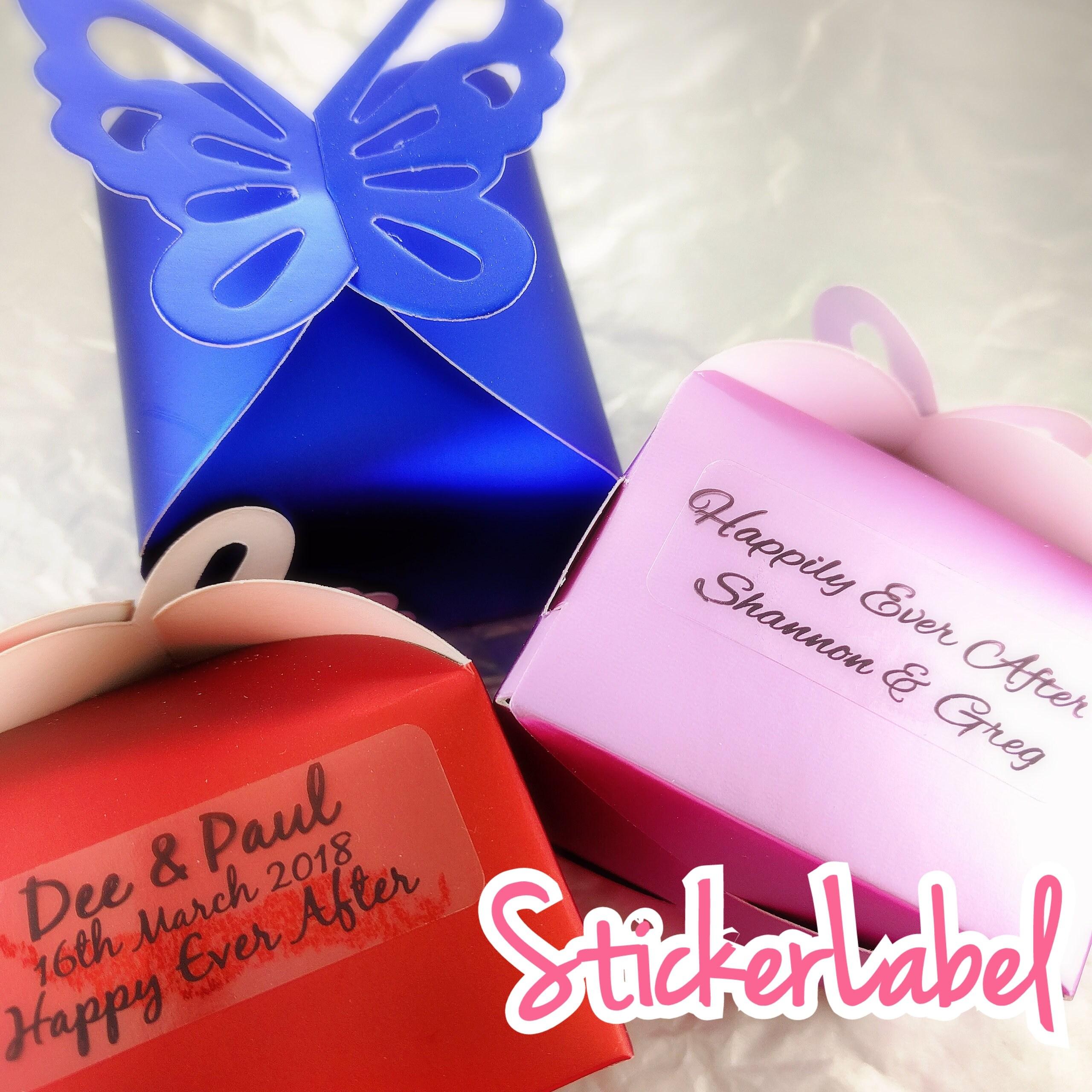 Wedding Labels Wedding Stickers Personalized Wedding Label | Etsy