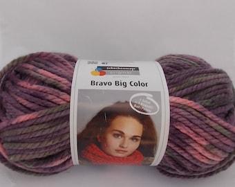 Purple multicolor yarn, knitting yarn, crochet yarn, Schachenmayr Bravo Big Color, super bulky yarn, cheap yarn, yarn lot, roving yarn