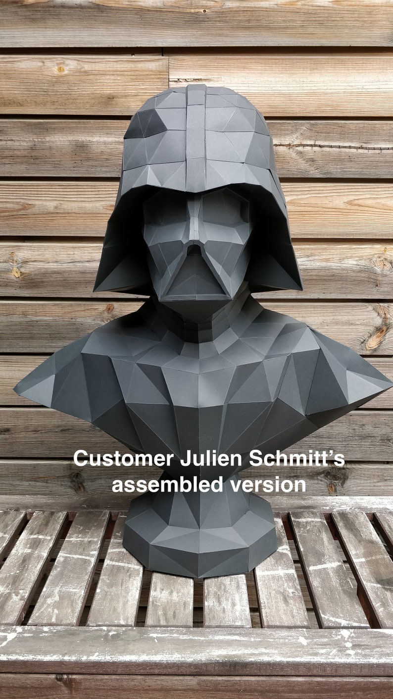 Papercraft Star Wars Make your own Darth Vader Statue image 0