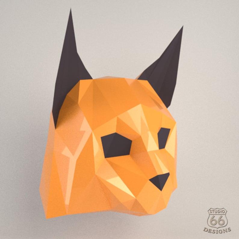 Cosplay Fury Lynx Mask animal trophy head Fury Cat festival mask Papercraft 3d Mask anime cosplay Halloween mask 3D papercraft