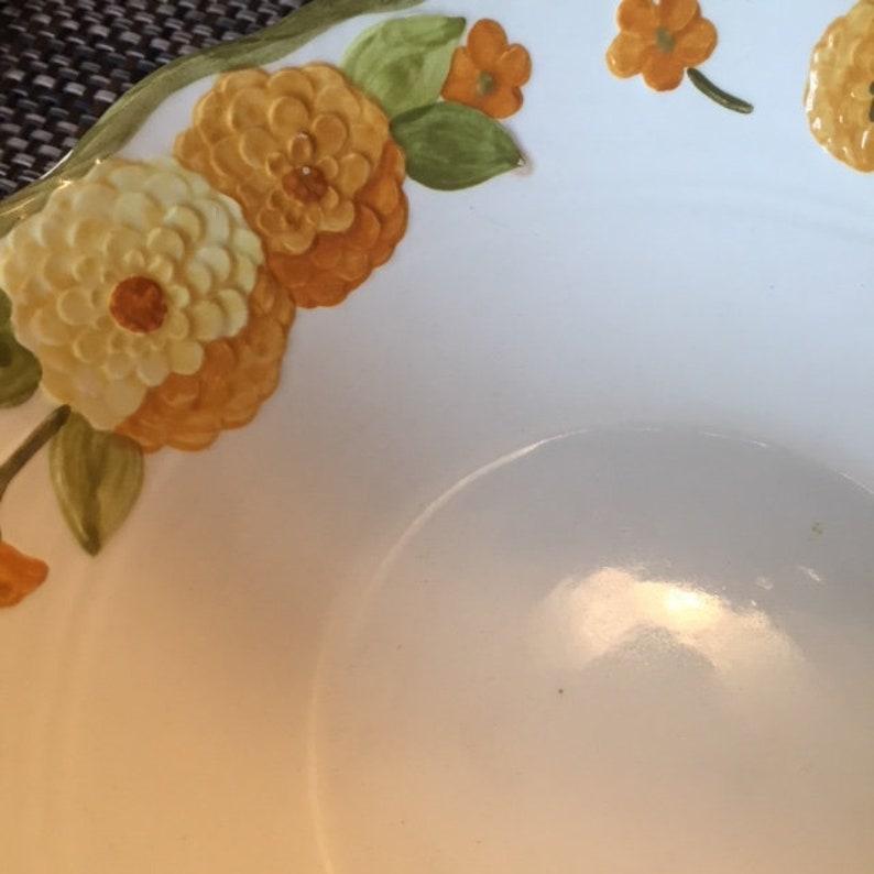 Metlox California Thanksgiving China Poppytrail Zinnia Serving Bowl Set