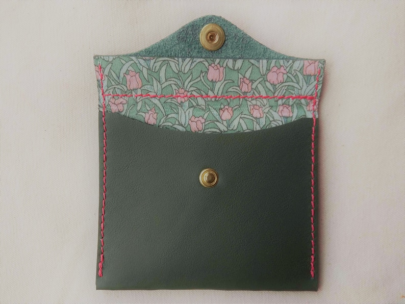 liberty fabric recycled leather Leather purse