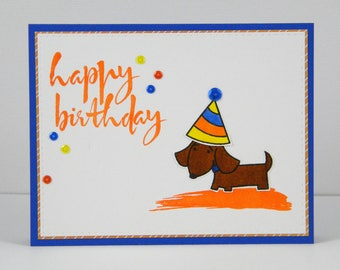 Dachshund Birthday Card Dachshund Happy Birthday Dachshund Etsy
