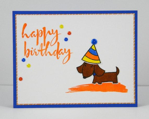 Dachshund Birthday Card Happy