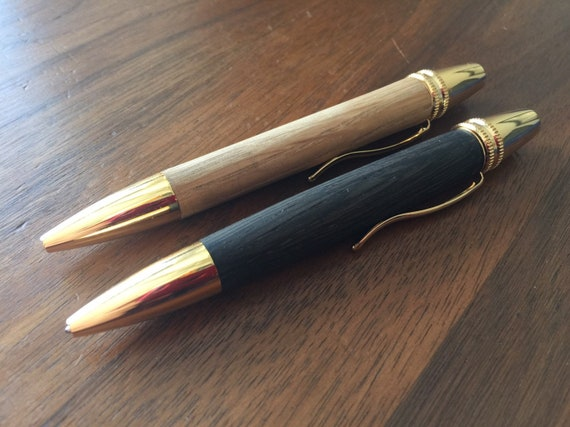 Polaris 24kt Gold Twist Pen Custom Wooden Pen With Your Choice Of Wood Custom Made