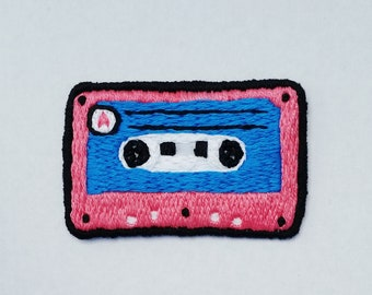Cassette Tape - Hand-embroidered
