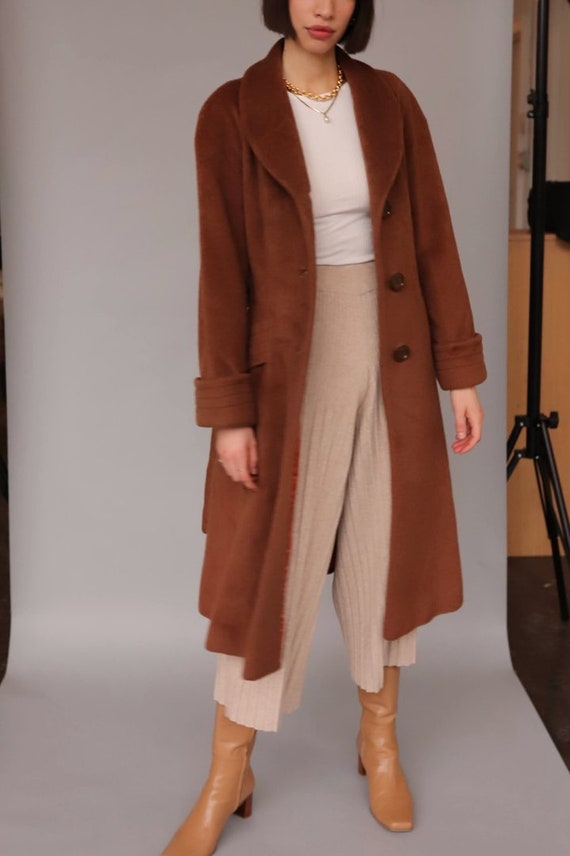 Vintage Brown Wool Coat
