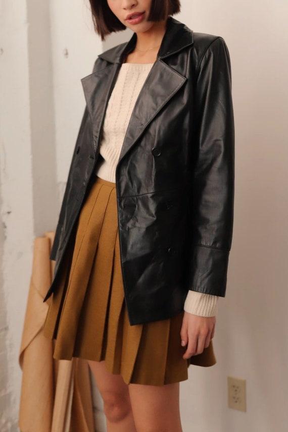 Vintage Murano Black Leather Blazer