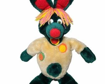 Vintage 1990 Polkaroo Plush Puppet Doll Polka Dot Door TVO Rare !!