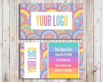 Custom Business Cards Home Office Compliant Font And Colors Mandala Consultant Card Printable Paisley Independent Fashion Retailer