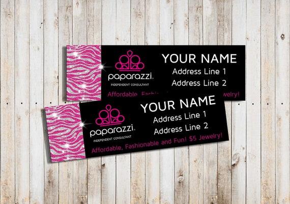 printable paparazzi address labels personalized return address etsy