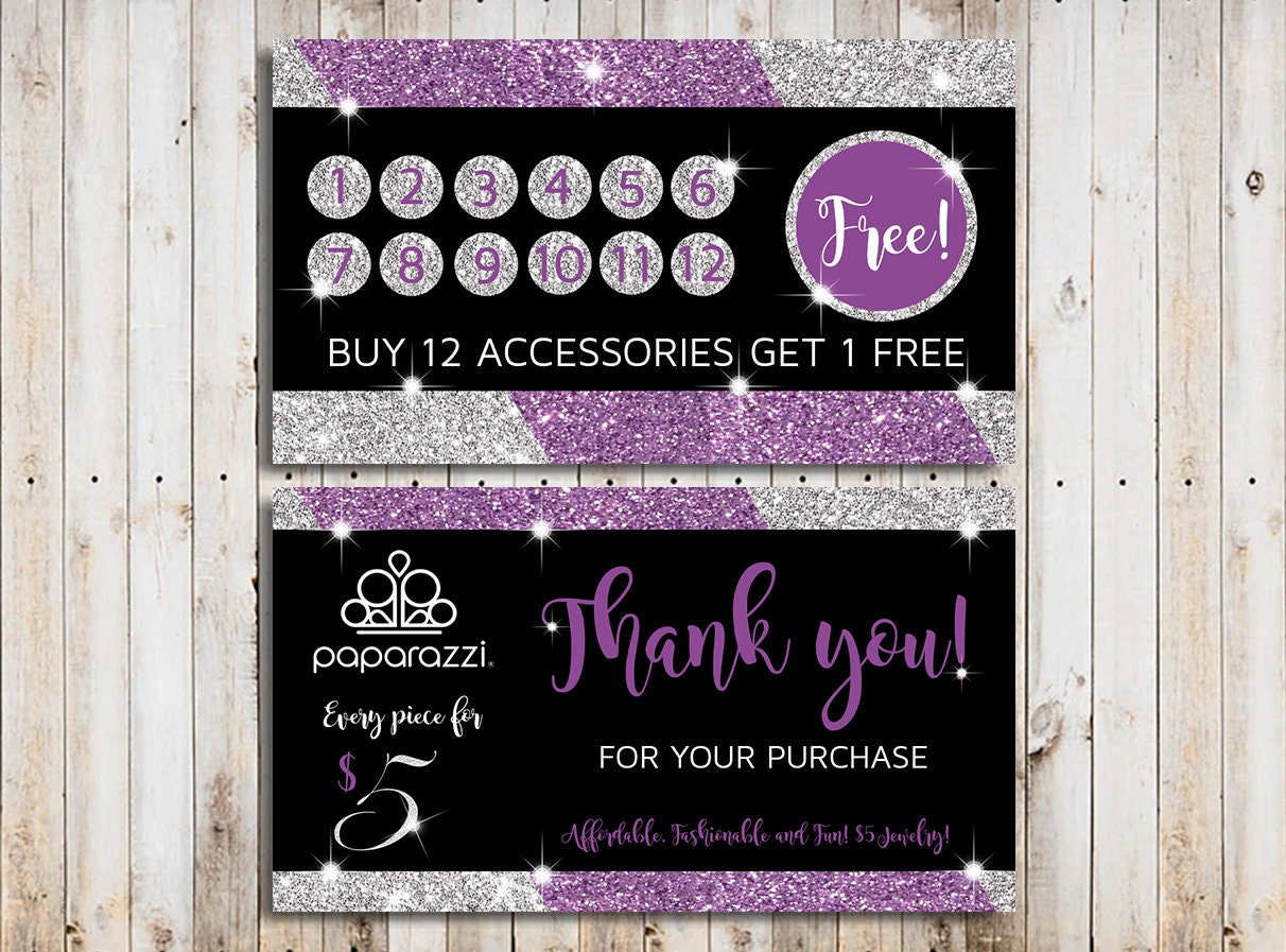 Paparazzi Loyalty Card Punch Card Template Paparazzi Punch Etsy