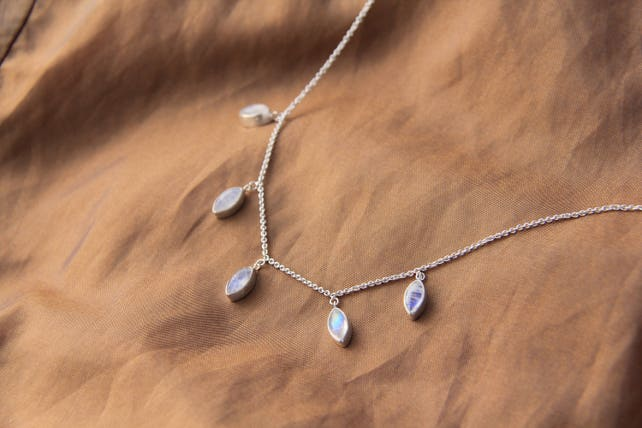 6f19023f428a13 Unity necklace: Moonstone Necklace Delicate necklace   Etsy