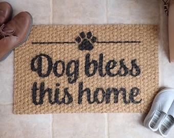 Funny welcome mat, funny front door mat, indoor rug, outdoor rug, doorstep mat, welcome rug, housewarming gifts, dog gifts, dog lover gifts