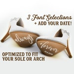 Personalized Always + Forever wedding shoe vinyl sticker, DIY wedding shoe decal, bride groom shoe sole decal, wedding stickers