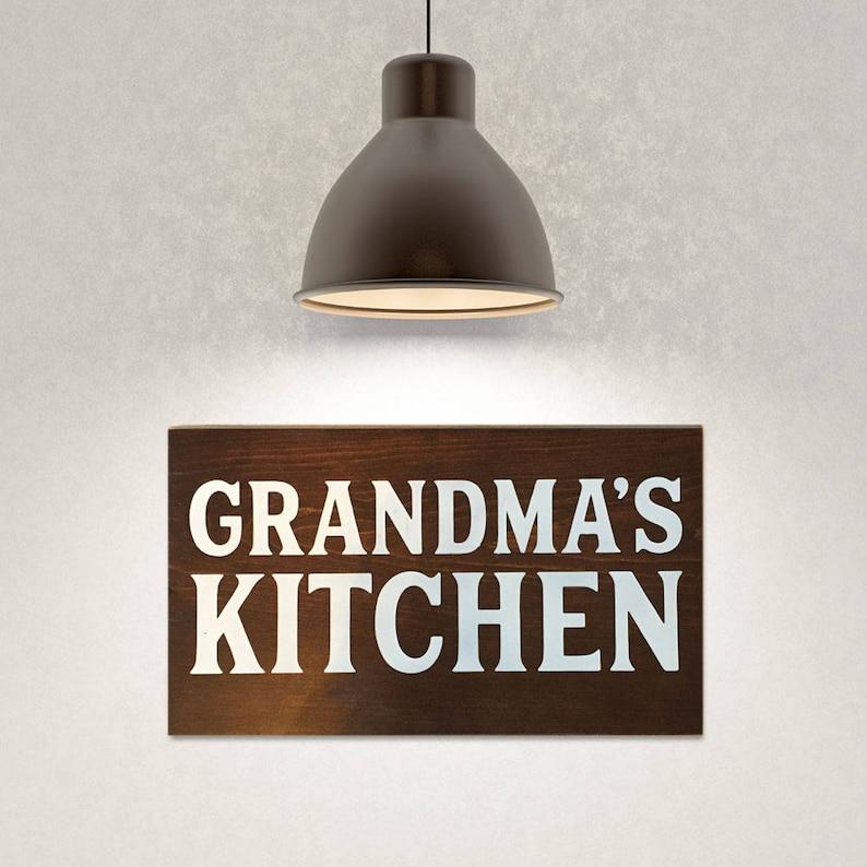 Grandma's kitchen painted wooden kitchen sign image 0