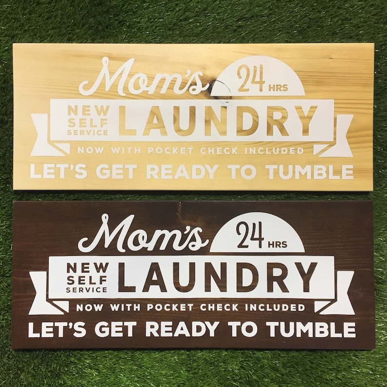 Painted wooden laundry room sign vintage inspired gifts for image 0