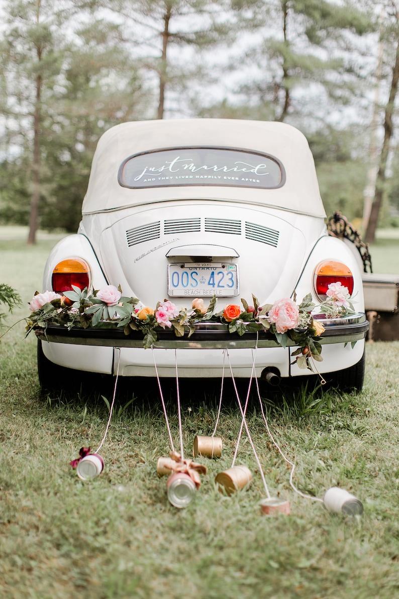 just married custom vinyl decal wedding car decor just  etsy
