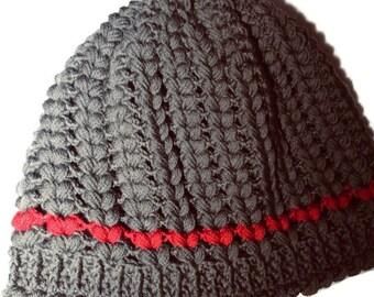 Gorro lana - Ganchillo - Crochet - Corazones - por encargo - c7f3f34c555