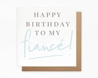 Happy Birthday Fiance Card