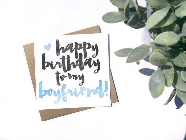 Happy Birthday Boyfriend Card Cute Boyfriend Card Etsy