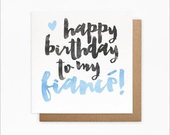 Happy Birthday Fiance Card - Fiance Birthday Card - Fiance Gifts