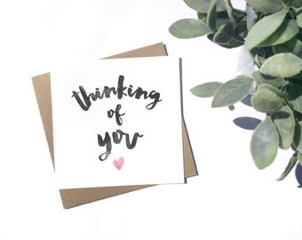 Thinking Of You - Sympathy Card - 100% Recycled Card - Blank Card - Handmade Card