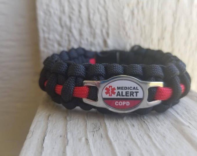 medical alert COPD paracord bracelet COPD Medical alert paracord bracelet