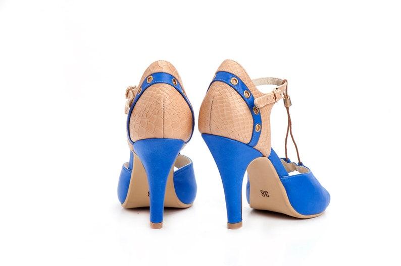 T Strap Fashion High Heel