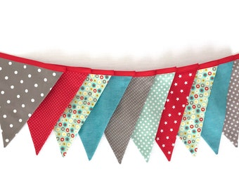 """Pennant garland """"Starlet colorful"""" 10 pennants"""