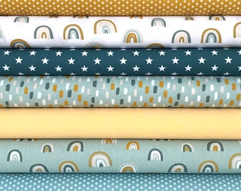 """Fabric package """"Rainbow"""" 7 different designs"""