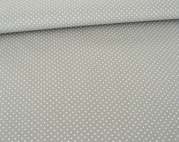 cde2117c98362 Cotton fabric mini dots on grey, patchwork