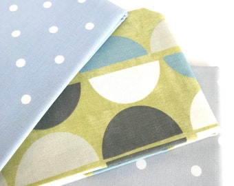 "Fabric package 1.5 m Decorative fabrics ""Points modern & classic"" 3 fabrics each 50 x 138 cm"
