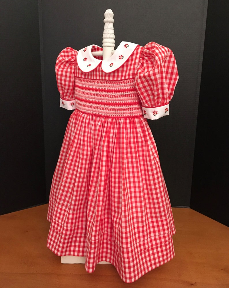 5926321148cd5 Counterchange Smocking Girls Dress | Girls Gingham Dress | Ready to Ship  Size 4(Sizes 1-8, Available Special Order Allow 2-3 Weeks