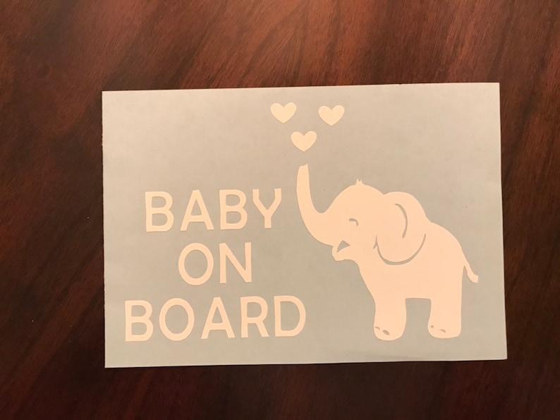 Baby On Board Elephant Car Window Decal